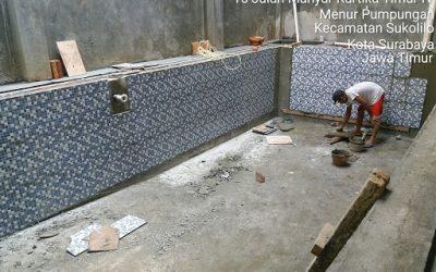 Pemasangan kramik kolam renang